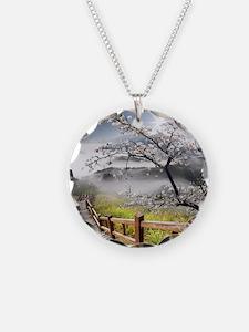 Japanese Cherry Landscape Necklace
