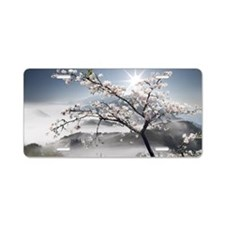 Japanese Cherry Landscape Aluminum License Plate