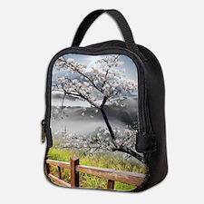 Japanese Cherry Landscape Neoprene Lunch Bag