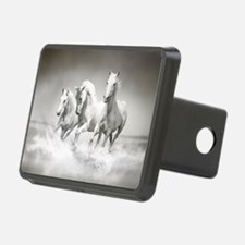 Wild White Horses Hitch Cover