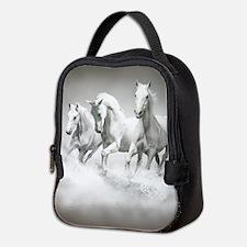 Wild White Horses Neoprene Lunch Bag