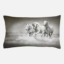 Wild White Horses Pillow Case