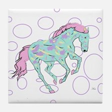 Pastel Horse Tile Coaster