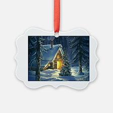 Christmas Snow Landscape Ornament