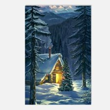 Christmas Snow Landscape Postcards (Package of 8)