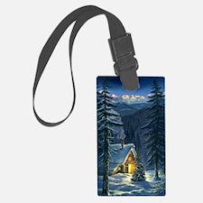 Christmas Snow Landscape Luggage Tag