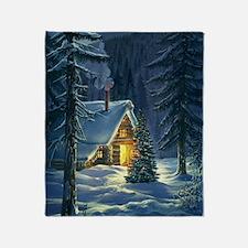 Christmas Snow Landscape Throw Blanket