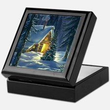 Christmas Snow Landscape Keepsake Box