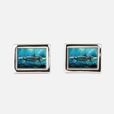 Steampunk Submarine Rectangular Cufflinks