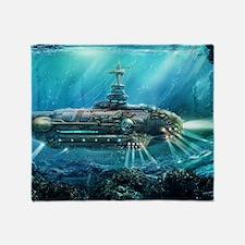 Steampunk Submarine Throw Blanket