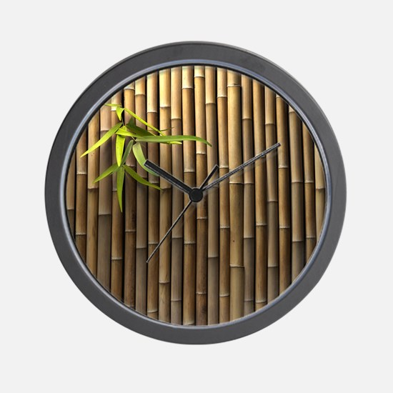Bamboo Wall Wall Clock