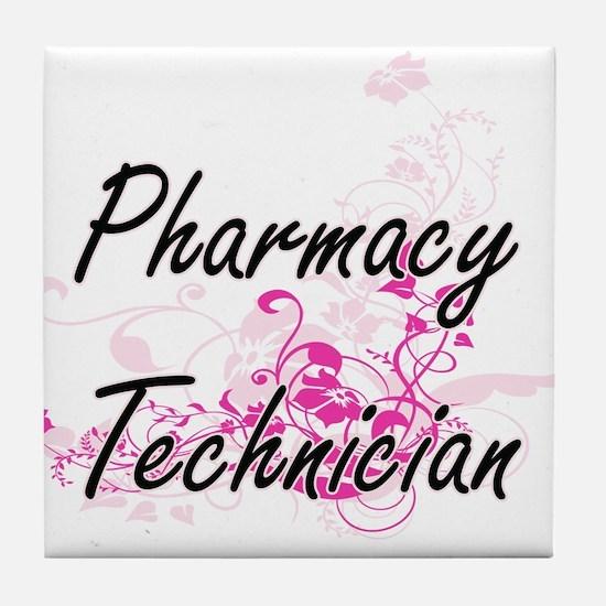 Pharmacy Technician Artistic Job Desi Tile Coaster