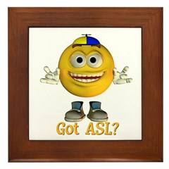 ASL Boy - Framed Tile