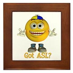 ASL Boy - Framed Tile