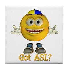 ASL Boy - Tile Coaster