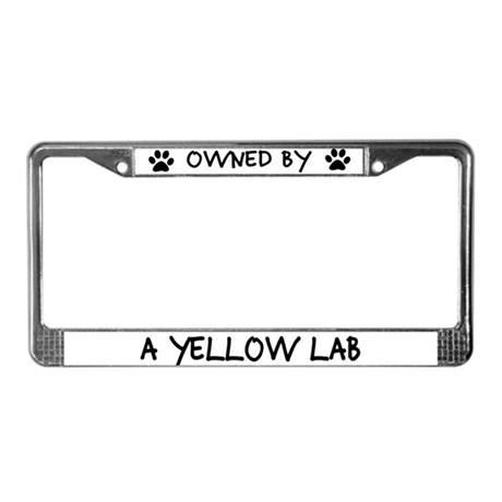 Owned by a Yellow Lab License Plate Frame