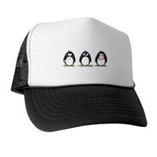 Hear, See, Speak No Evil Peng Trucker Hat
