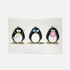 Hear, See, Speak No Evil Peng Rectangle Magnet
