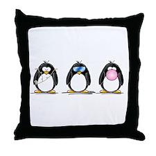 Hear, See, Speak No Evil Peng Throw Pillow