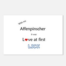 Affenpinscher Lick Postcards (Package of 8)