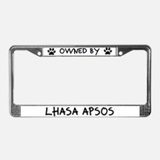 Owned by Lhasa Apsos License Plate Frame