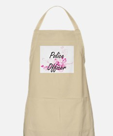 Police Officer Artistic Job Design with Flow Apron
