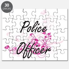 Police Officer Artistic Job Design with Flo Puzzle