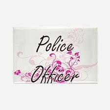 Police Officer Artistic Job Design with Fl Magnets
