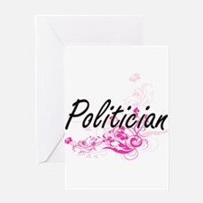Politician Artistic Job Design with Greeting Cards