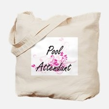 Pool Attendant Artistic Job Design with F Tote Bag