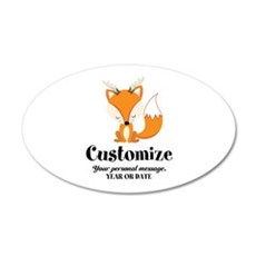 Custom Christmas Fox Wall Sticker
