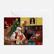 Santa's Wire Fox Terrier Greeting Card