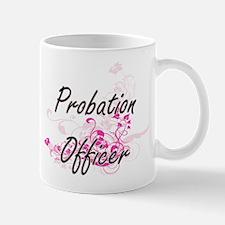 Probation Officer Artistic Job Design with Fl Mugs