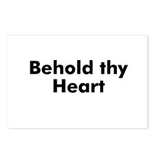 Behold thy Heart  Postcards (Package of 8)