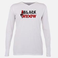 BlackWidow_TR2.png Plus Size Long Sleeve Tee
