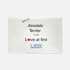 Airedale Lick Rectangle Magnet