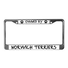 Owned by Norwich Terriers License Plate Frame