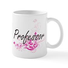 Professor Artistic Job Design with Flowers Mugs