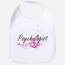 Psychologist Artistic Job Design with Flowers Bib