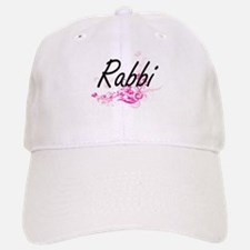 Rabbi Artistic Job Design with Flowers Baseball Baseball Cap