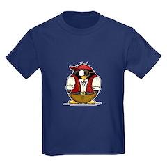 Pirate Penguin Kids Dark T-Shirt