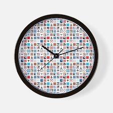 AMERICANA QUILT Wall Clock
