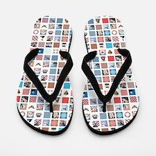 AMERICANA QUILT Flip Flops