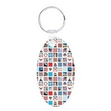 AMERICANA QUILT Keychains