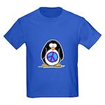 Peace Penguin Kids Dark T-Shirt