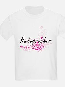 Radiographer Artistic Job Design with Flow T-Shirt