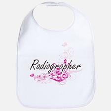 Radiographer Artistic Job Design with Flowers Bib