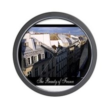 The Rooftops of Paris Wall Clock