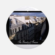 The Rooftops of Paris Ornament (Round)