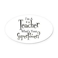Super Teacher Oval Car Magnet